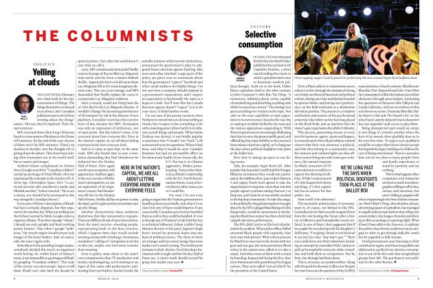 Article Preview: Yelling at clouds, MARCH 2019 | Maclean's
