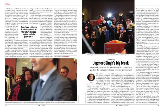Article Preview: Jagmeet Singh's big break, APRIL 2019 | Maclean's