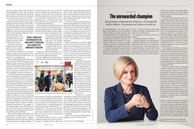 Article Preview: The unrewarded champion, APRIL 2019 | Maclean's