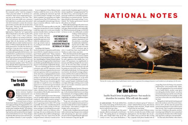 Article Preview: For the birds, APRIL 2019 | Maclean's