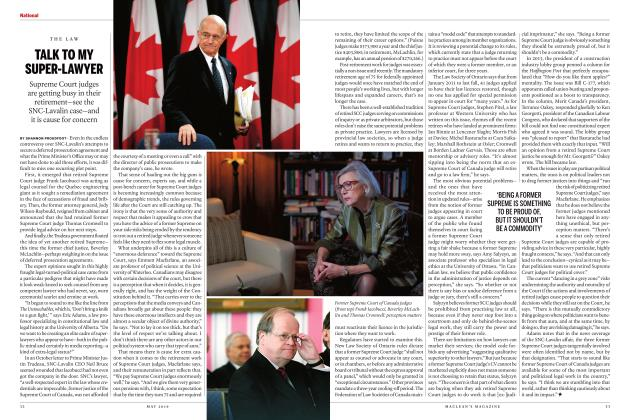Article Preview: TALK TO MY SUPER-LAWYER, MAY 2019 | Maclean's