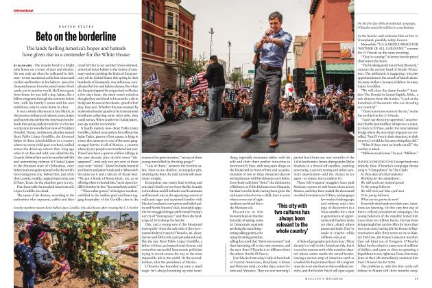 Article Preview: Beto on the borderline, MAY 2019 | Maclean's