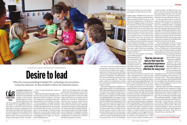 Article Preview: Desire to lead, JUNE 2019 | Maclean's