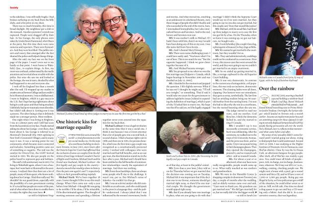 Article Preview: One historic kiss for marriage equality, JULY 2019 | Maclean's