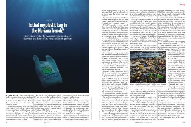 Article Preview: Is that my plastic bag in the Mariana Trench?, JULY 2019 | Maclean's