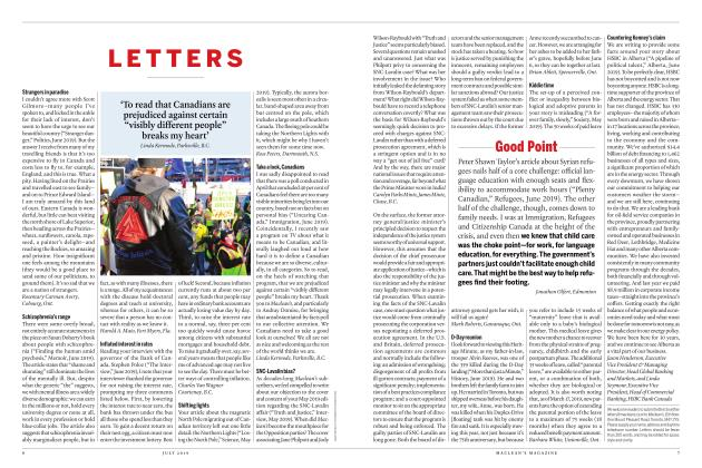 Article Preview: LETTERS, JULY 2019 | Maclean's