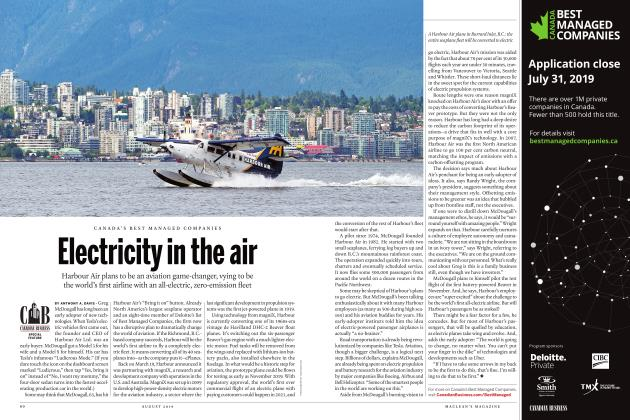 Article Preview: Electricity in the air, AUGUST 2019 | Maclean's