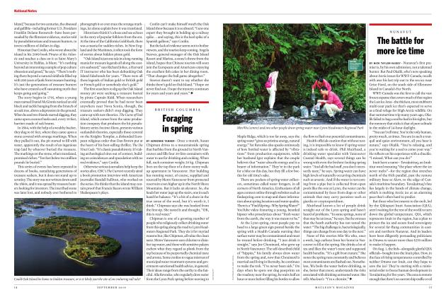 Article Preview: Foraging in spring, SEPTEMBER 2019 | Maclean's