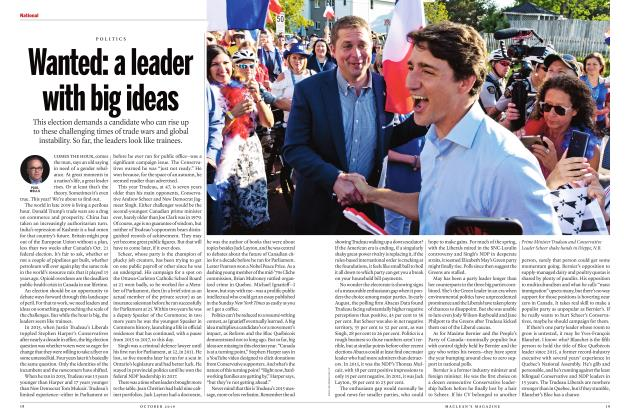 Article Preview: Wanted: a leader with big ideas, OCTOBER 2019 | Maclean's