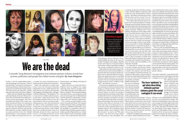 Article Preview: We are the dead, OCTOBER 2019 | Maclean's