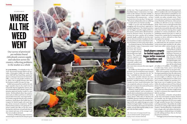 Article Preview: WHERE ALL THE WEED WENT, OCTOBER 2019 | Maclean's
