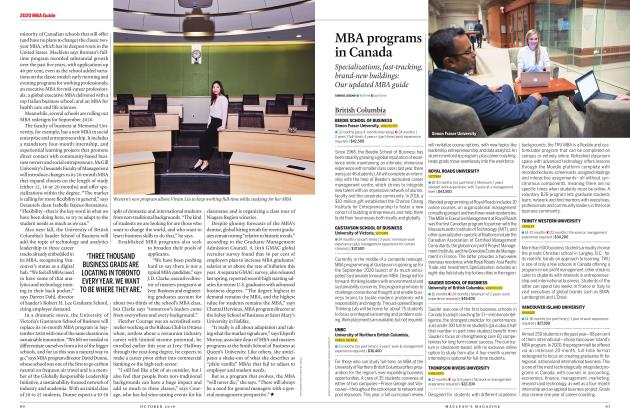 Article Preview: MBA programs in Canada, OCTOBER 2019 | Maclean's
