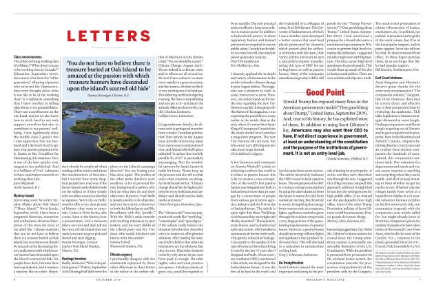 Article Preview: LETTERS, OCTOBER 2019 | Maclean's