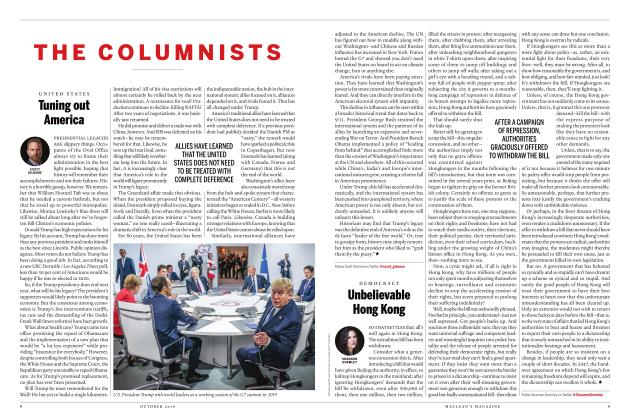 Article Preview: Tuning out America, OCTOBER 2019 | Maclean's