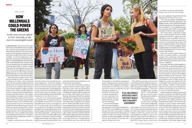 Article Preview: HOW MILLENNIALS COULD POWER THE GREENS, NOVEMBER 2019 | Maclean's
