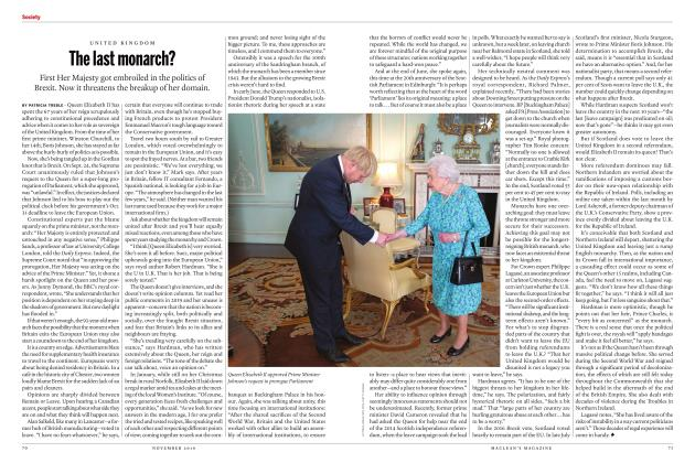 Article Preview: The last monarch?, NOVEMBER 2019 | Maclean's