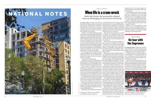 Article Preview: When life is a crane wreck, NOVEMBER 2019 | Maclean's