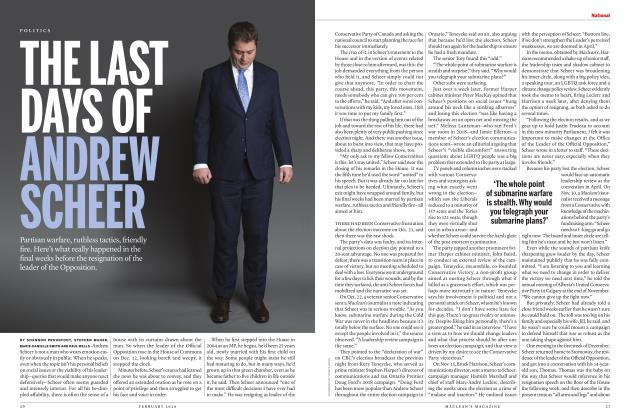 Article Preview: THE LAST DAYS OF ANDREW SCHEER, FEBRUARY 2020 | Maclean's