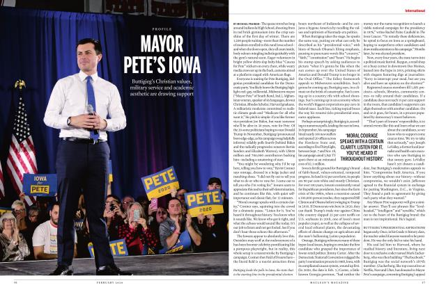 Article Preview: MAYOR PETE'S IOWA, FEBRUARY 2020 | Maclean's