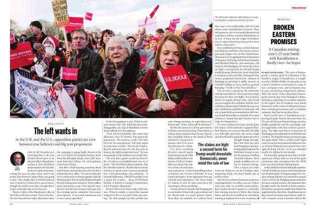 Article Preview: The left wants in, FEBRUARY 2020 | Maclean's