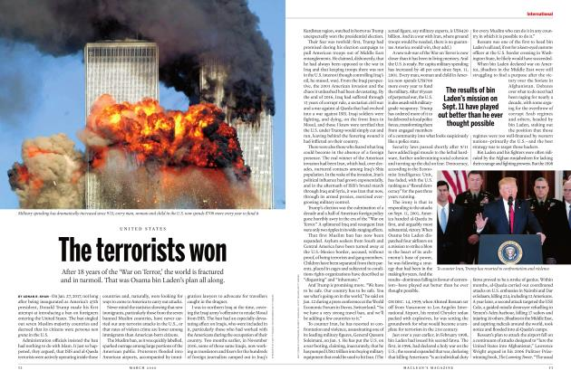 Article Preview: The terrorists won, March 2020 | Maclean's