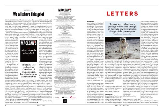 Article Preview: LETTERS, March 2020 | Maclean's
