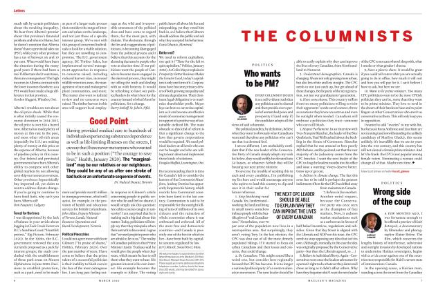 Article Preview: Wrong side of the coup, March 2020 | Maclean's