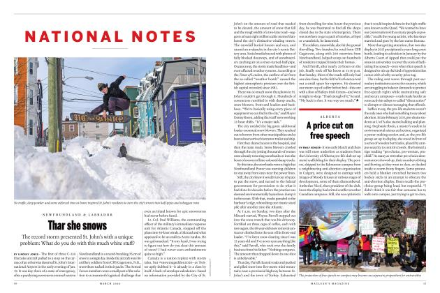 Article Preview: Thar she snows, March 2020 | Maclean's