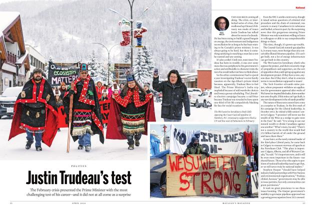 Article Preview: Justin Trudeau's test, APRIL 2020 | Maclean's