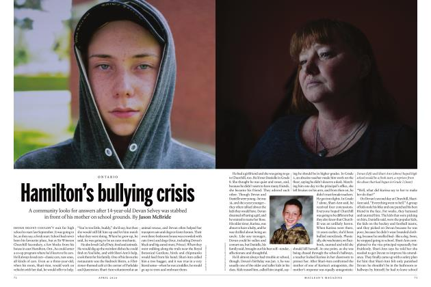 Article Preview: Hamilton's bullying crisis, APRIL 2020 | Maclean's