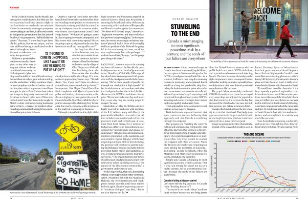Article Preview: STUMBLING TO THE END, JULY 2020 | Maclean's