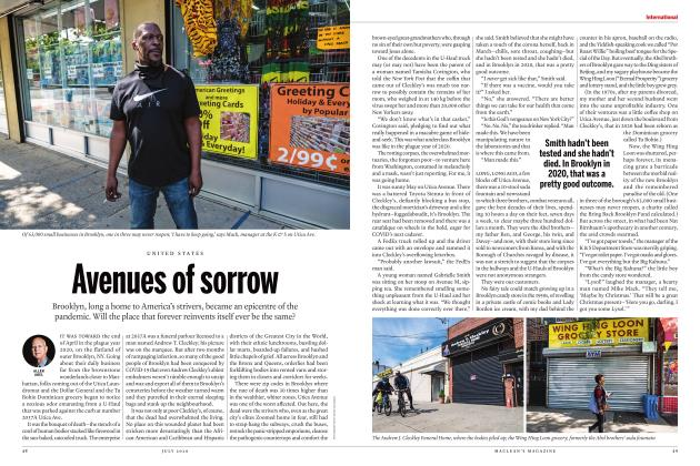 Article Preview: Avenues of sorrow, JULY 2020 | Maclean's