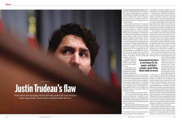 Article Preview: Justin Trudeau's flaw, SEPTEMBER 2020 | Maclean's