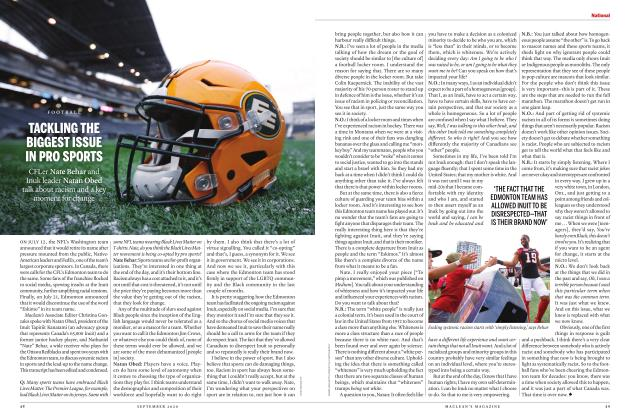 Article Preview: TACKLING THE BIGGEST ISSUE IN PRO SPORTS, SEPTEMBER 2020 | Maclean's