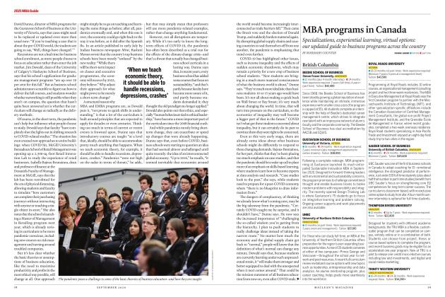 Article Preview: MBA programs in Canada, SEPTEMBER 2020 | Maclean's