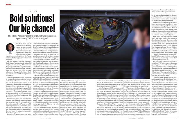 Article Preview: Bold solutions! Our big chance!, OCTOBER 2020 | Maclean's