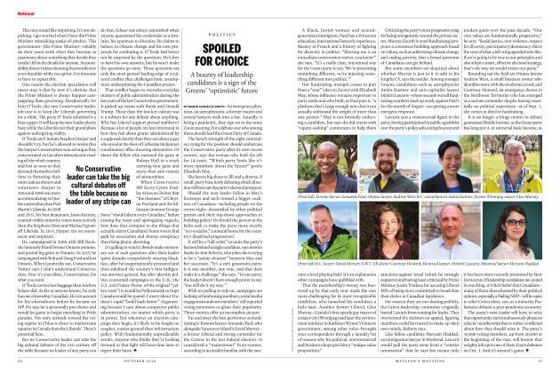 Article Preview: SPOILED FOR CHOICE, OCTOBER 2020 | Maclean's