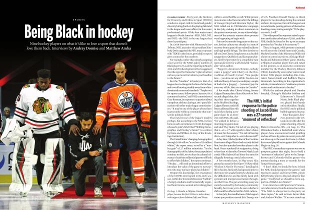 Article Preview: Being Black in hockey, OCTOBER 2020 | Maclean's