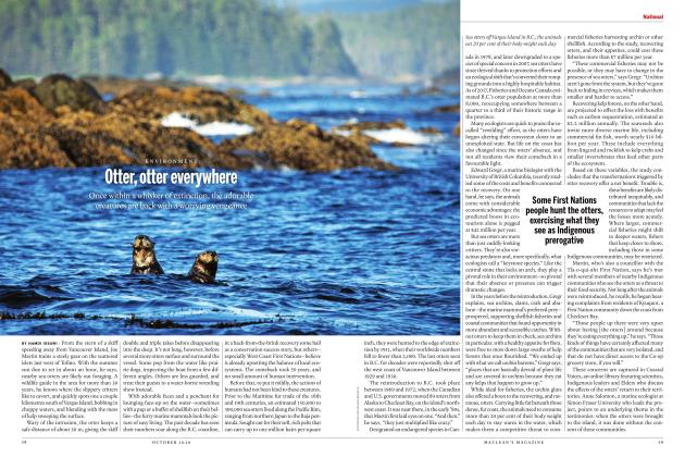 Article Preview: Otter, otter everywhere, OCTOBER 2020 | Maclean's