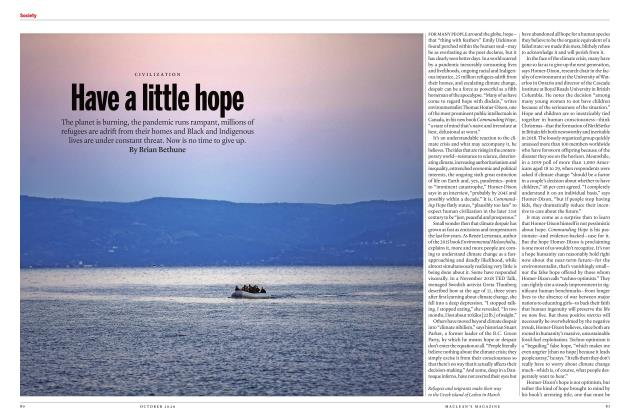 Article Preview: Have a little hope, OCTOBER 2020 | Maclean's
