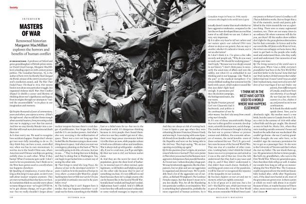 Article Preview: MASTERS OF WAR, OCTOBER 2020 | Maclean's