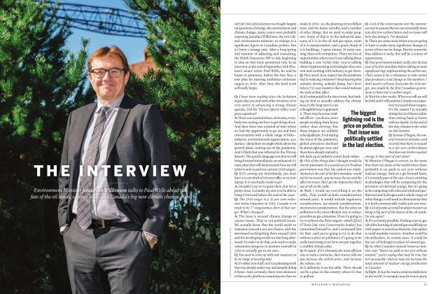 Article Preview: THE INTERVIEW, NOVEMBER 2020 | Maclean's