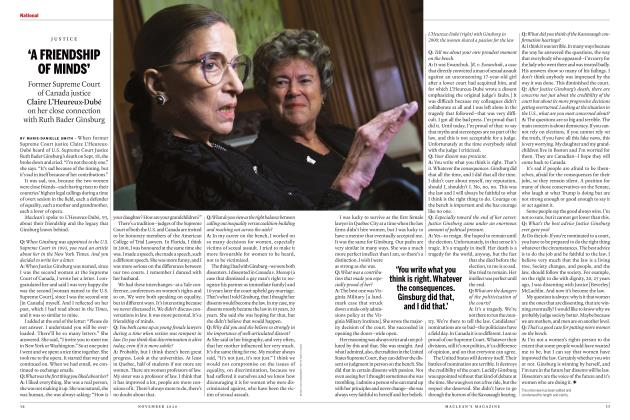 Article Preview: 'A FRIENDSHIP OF MINDS', NOVEMBER 2020 | Maclean's