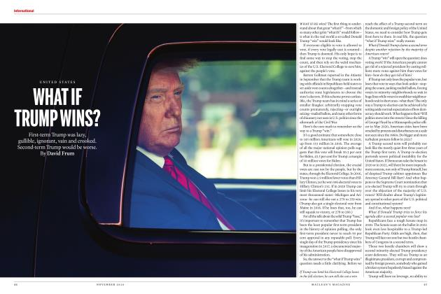 Article Preview: WHAT IF TRUMP WINS?, NOVEMBER 2020 | Maclean's