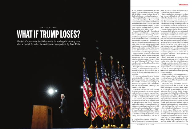 Article Preview: WHAT IF TRUMP LOSES?, NOVEMBER 2020 | Maclean's