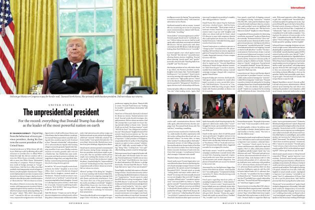 Article Preview: The unpresidential president, NOVEMBER 2020 | Maclean's