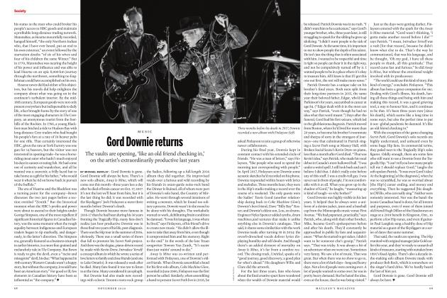 Article Preview: Gord Downie returns, NOVEMBER 2020 | Maclean's