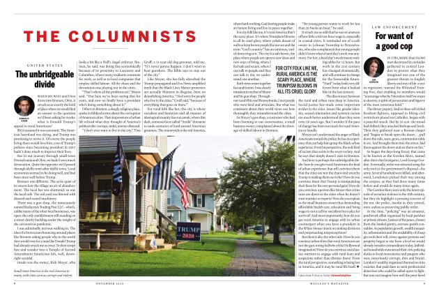 Article Preview: For want of a good cop, NOVEMBER 2020 | Maclean's