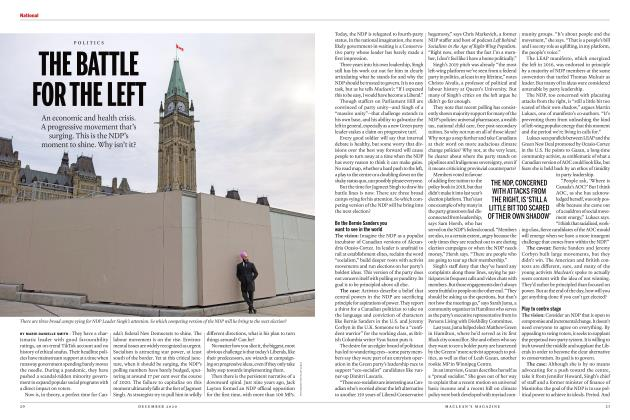 Article Preview: THE BATTLE FOR THE LEFT, DECEMBER 2020 | Maclean's