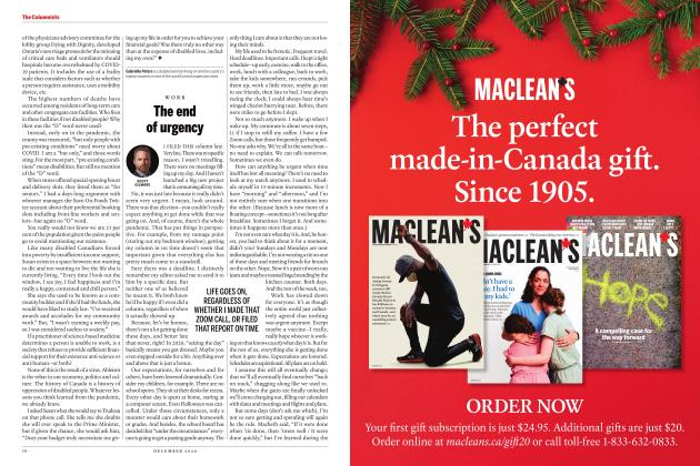Article Preview: The end of urgency, DECEMBER 2020 | Maclean's